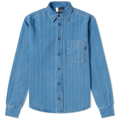 Bleu de Paname One Pocket Denim Shirt