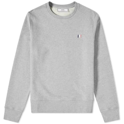 AMI Small Tricolour Logo Crew Sweat
