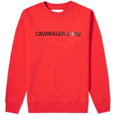 Calvin Klein Institutional Logo Crew Sweat
