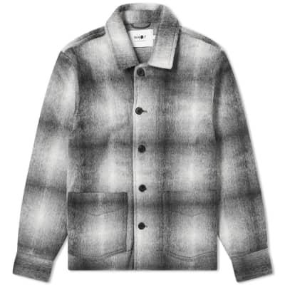 NN07 Frost Plaid Shirt Jacket