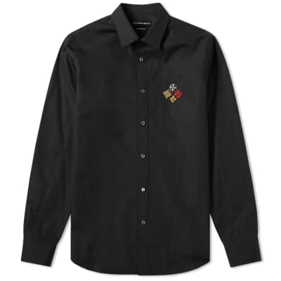 6bd114eb003b Alexander McQueen Military Badge Logo Shirt ...