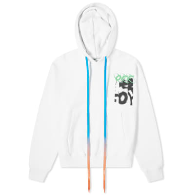 Off-White Spray Blurred Oversized Hoody