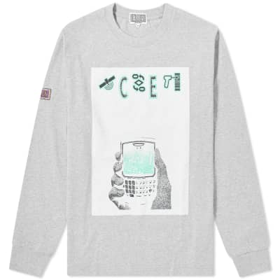 Cav Empt Long Sleeve White Mobile Tee