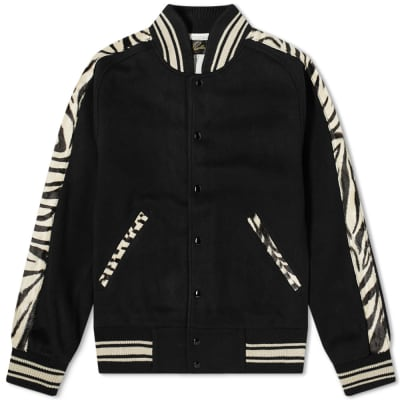 Needles Animal Print Varsity Jacket
