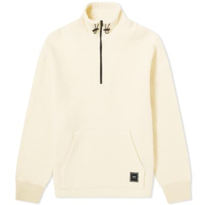 AMI Quarter Zip Patch Logo Wool Sweat