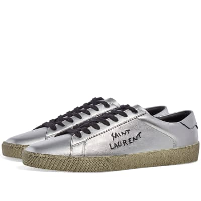 Saint Laurent SL-06 Signature Court Leather Sneaker
