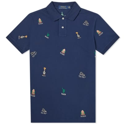 7f7e31267716 Polo Ralph Lauren Multi Bear Embroidered Polo ...