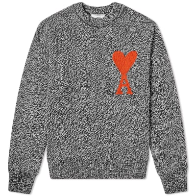 lowest price 209e6 ba8b4 AMI Oversized Heart Logo Crew Knit ...