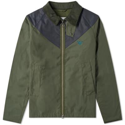 Barbour Beacon 2 Tone Zip Broad Waxed Jacket