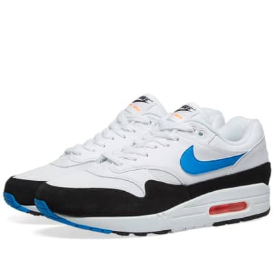 size 40 35f06 f4607 Nike Air Max 1 White, Blue, Orange   Black