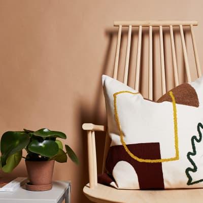 Ferm Living Mirage Leaf Cushion