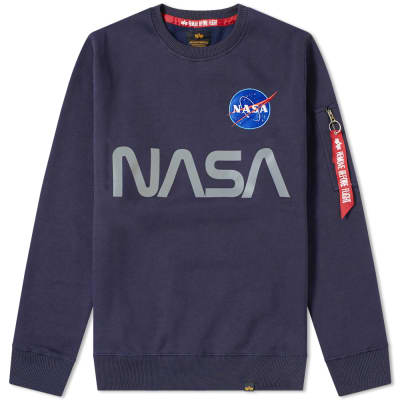 Alpha Industries NASA Reflective Crew Sweat