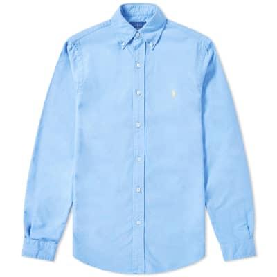 d1a3f2018a63a Polo Ralph Lauren Slim Fit Garment Dyed Button Down Oxford Shirt ...