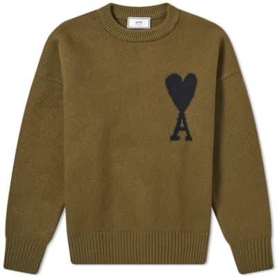 AMI A Heart Intarsia Knit