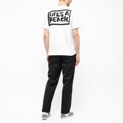 Life's a Beach Box Logo Tee