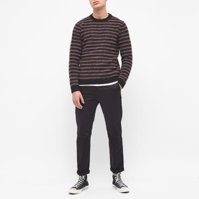 Norse Projects Sigfred Brushed Stripe Crew Knit