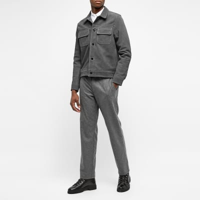 Officine Generale Otto Unlined Suede Jacket