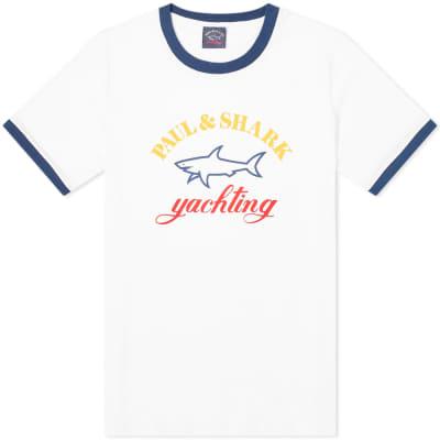 Paul & Shark Logo Ringer Tee