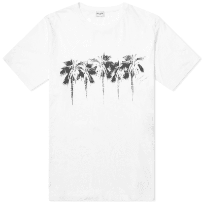 Saint Laurent Palm Tree Print Tee