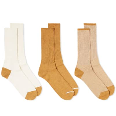 Anonymous Ism American Rib Crew Sock - 3 Pack