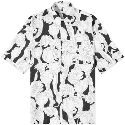 Givenchy Jungle Flower Print Short Sleeve Shirt