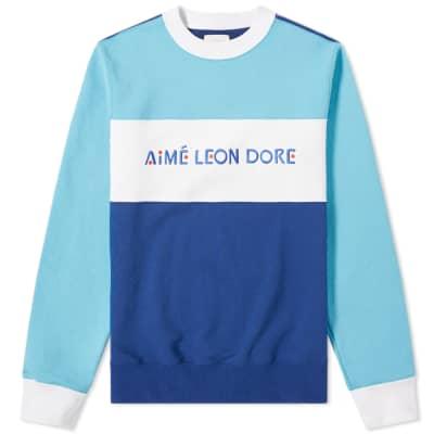 8539f9ce6 Aimé Leon Dore Colour Block Crew Sweat ...