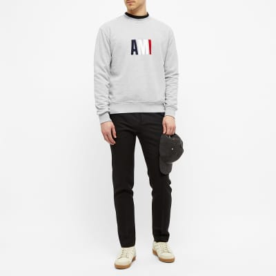 AMI Tricolour Logo Crew Sweat