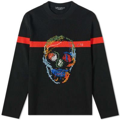 b6117218290 Alexander McQueen Embroidered Multi Skull Knit ...