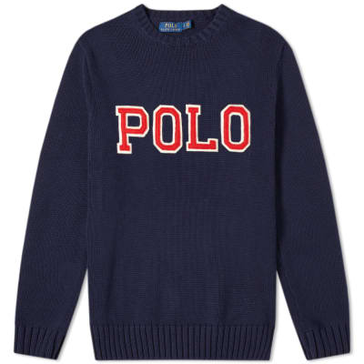 cf1a404000cd Polo Ralph Lauren Polo Applique Logo Crew Knit ...