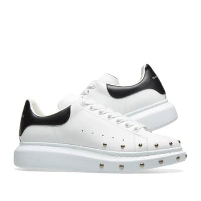 6c1cc058ac ... Alexander McQueen Front Stud Wedge Sole Sneaker