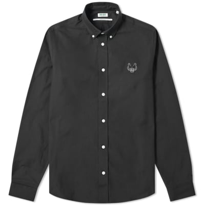 65bfa326da62 Kenzo Tiger Logo Twill Button Down Shirt ...