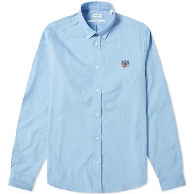 bcbada014e7a Kenzo Tiger Logo Twill Button Down Shirt ...