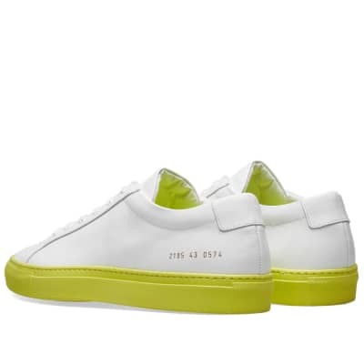 factory price ccdaf c0f44 Common Projects Achilles Low Coloured Sole Common Projects Achilles Low  Coloured Sole