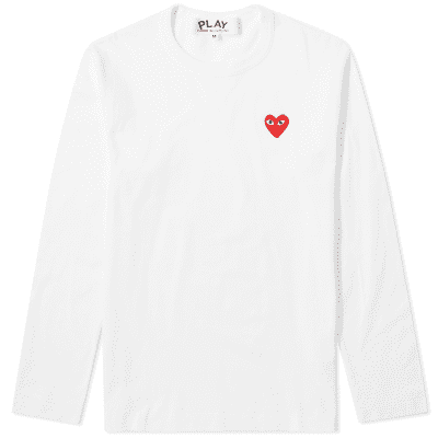 9253cb9ed945 Comme des Garcons Play Long Sleeve Basic Logo Tee ...
