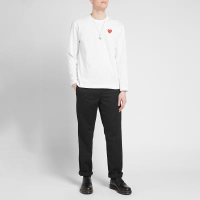 Comme des Garcons Play Long Sleeve Basic Logo Tee