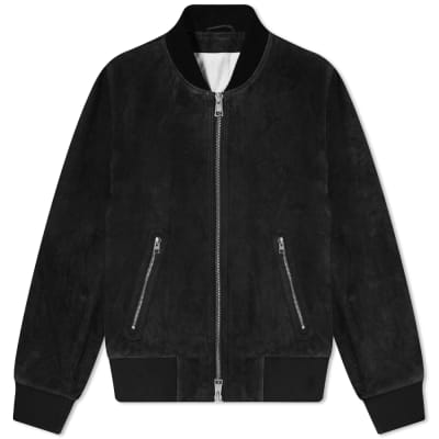 cheap for discount 14c9a 6f0ac AMI Suede Bomber Jacket ...