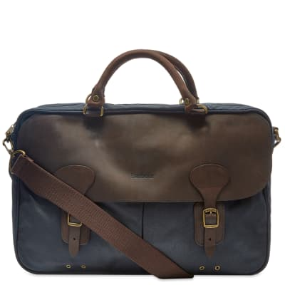 dad1caafc63806 Barbour Wax Leather Briefcase ...
