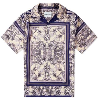 MKI Short Sleeve Frame Print Vacation Shirt