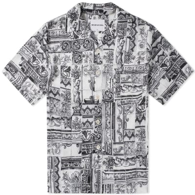 MKI Short Sleeve Tile Print Vacation Shirt