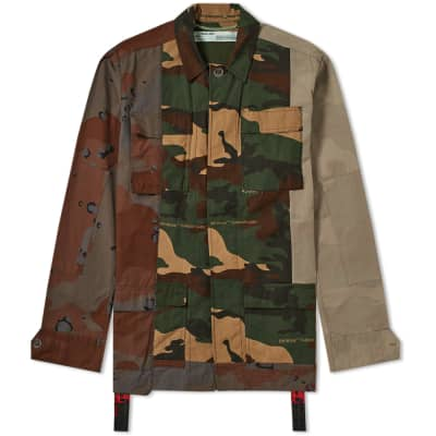 Off-White Reconstructed Camo Field Jacket