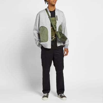 Comme des Garcons Homme Military Jersey Bomber Jacket