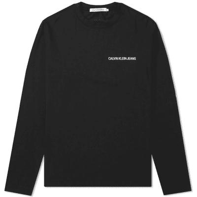 Calvin Klein Long Sleeve Institutional Chest Logo Tee