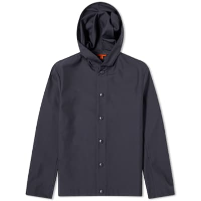 Barena Caroman Hooded Snap Front Jacket