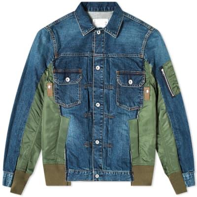 Sacai Denim x MA-1 Jacket