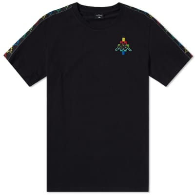 Marcelo Burlon x Kappa Multicolour Taped Logo Tee