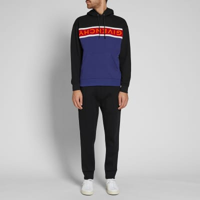 Givenchy Long Sleeve Towelling Logo Popover Hoody