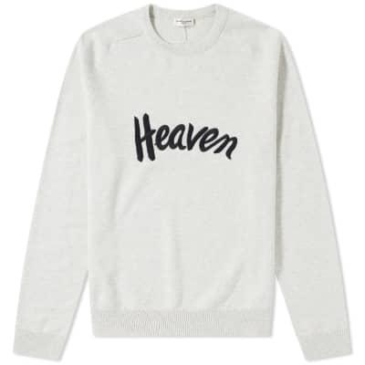 Saint Laurent Heaven Embroidered Crewneck Knit