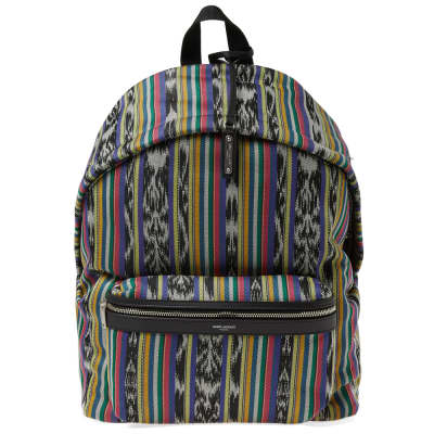 Saint Laurent Ikat City Backpack