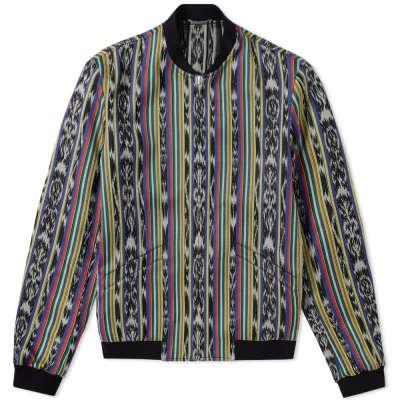 Saint Laurent Reversible Ikat Pattern Teddy Jacket