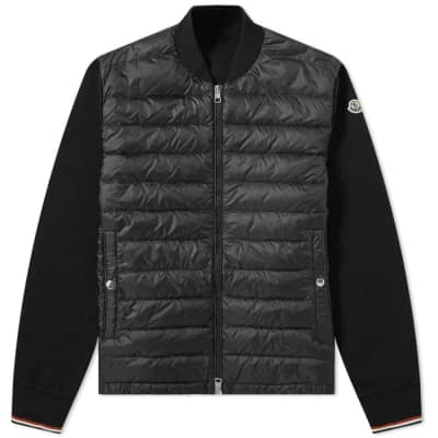 25aaaf029267e Moncler Tricolour Cuff Rub Down Knit ...